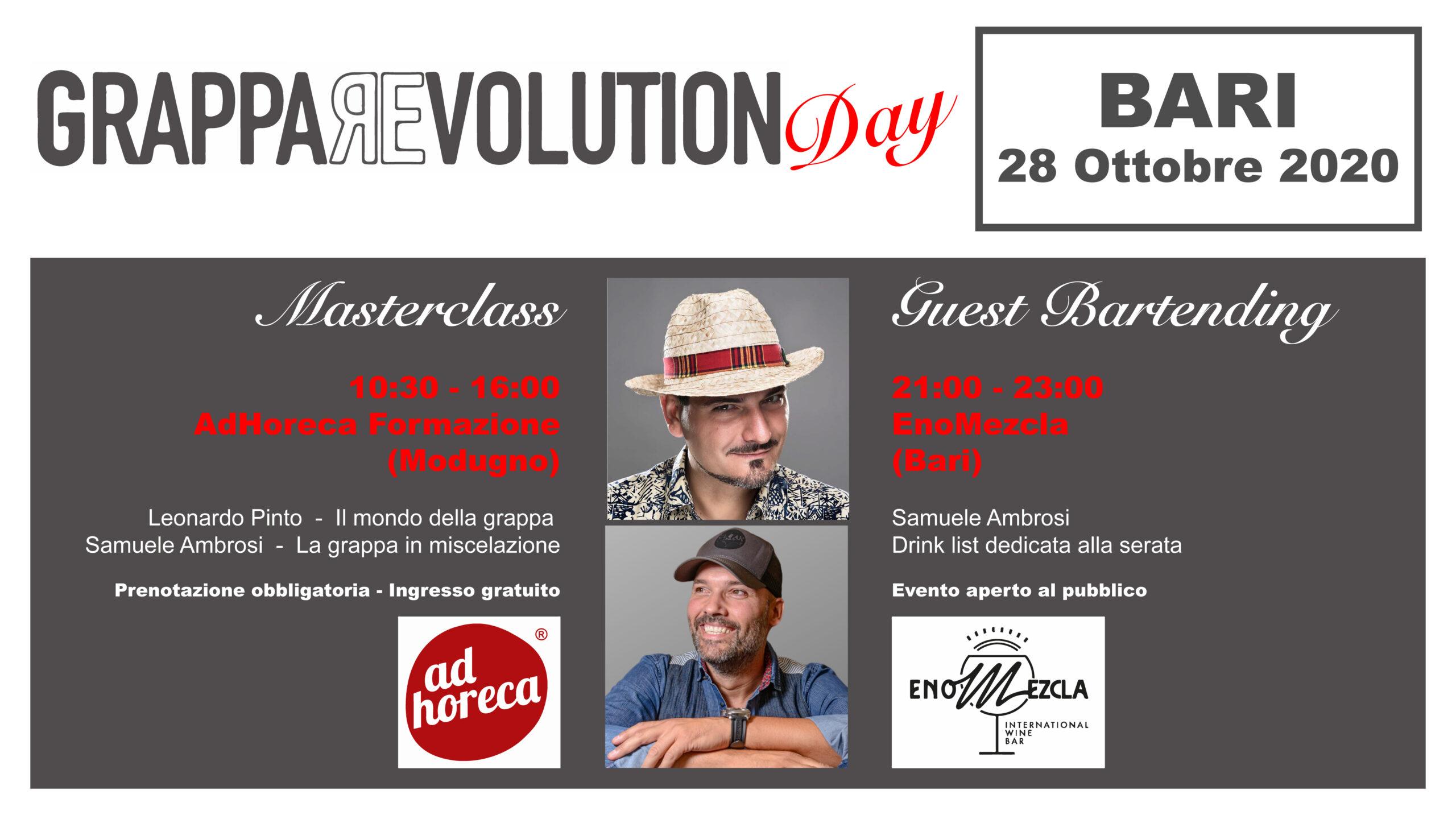28 ott 20 – GrappaRevolution Day, Bari